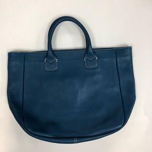 Ann Taylor blue tote bag.